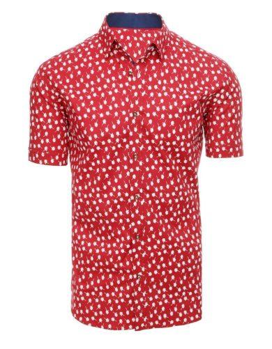 Neformální pánská košile se vzory potisk peří