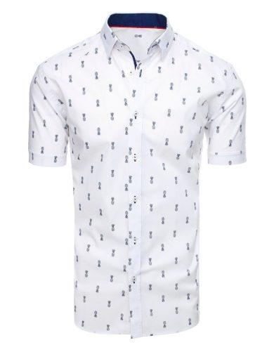 Neformální pánská košile se vzory potisk ananasy