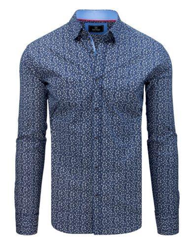 Luxusní pánská košile s dlouhým rukávem modrá