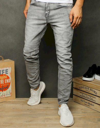 Pánské riflové kalhoty džíny šedé