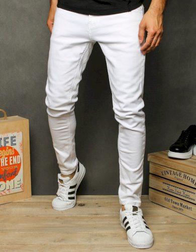 Pánské riflové kalhoty džíny bílé