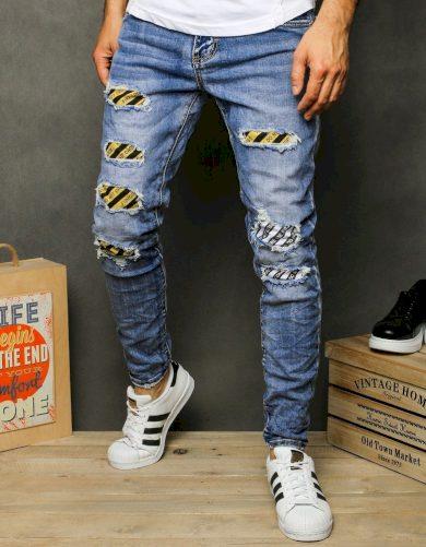 Pánské riflové kalhoty džíny modré