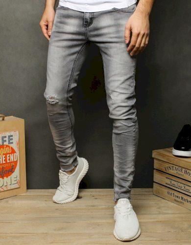 Pánské džínové kalhoty rifle jeasnov šedé barvě