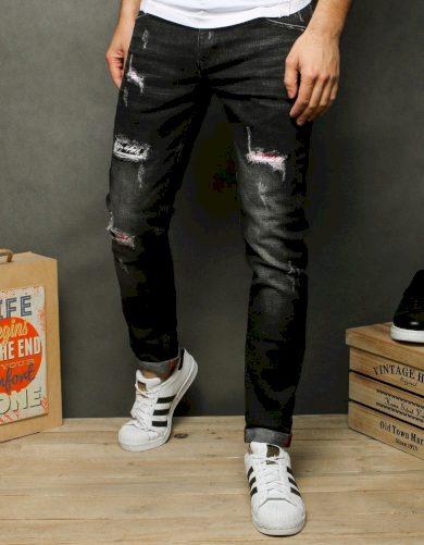 Pánské džínové kalhoty rifle černé