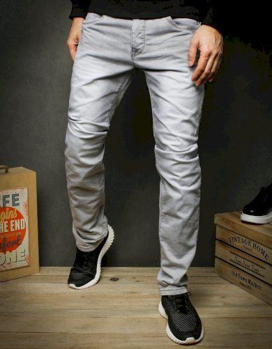 Pánské džínové kalhoty rifle šedé