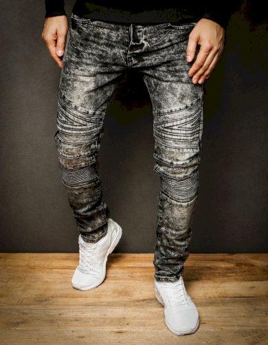 Pánské džínové kalhoty rifle v šedé barvě