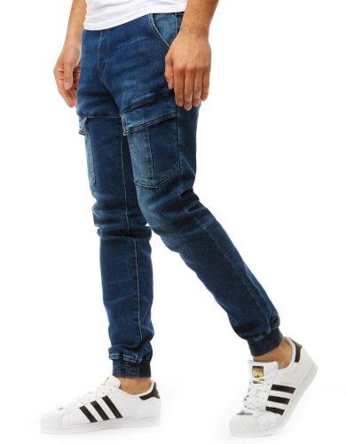 Pánské džínové kalhoty běžec vypadají modře