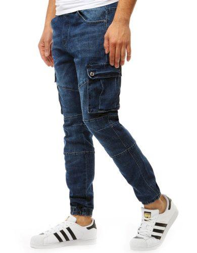 Pánské kalhoty jogger denim look