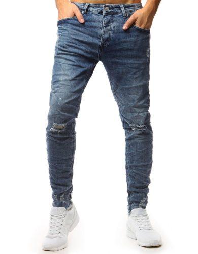 Pánské modré džínové kalhoty