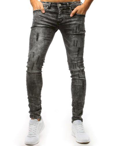 Šedé potrhané džíny