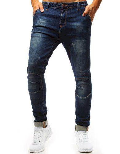 Modré džíny s velkými kapsami