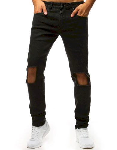 Pánské kalhoty s dírami na kolenou