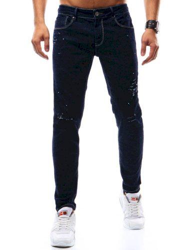Pánské džínové kalhoty rifle tmavě modré
