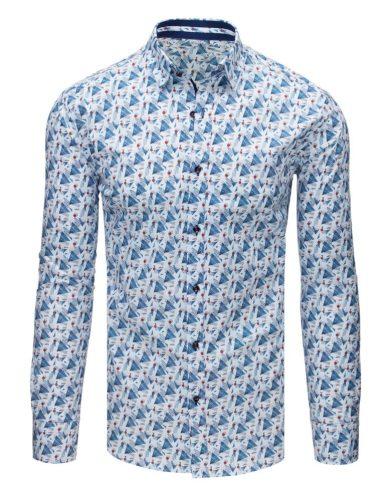 elegantní Vzorovaná pánská košile s potiskem bílá