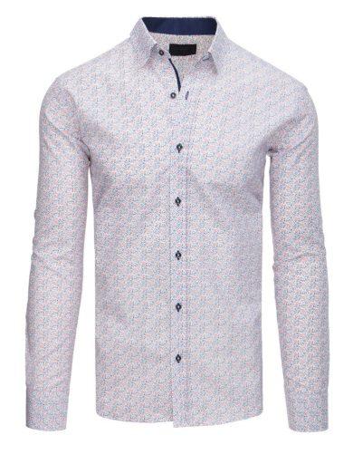 Pánská elegantní košile vzorovaná s potiskem bílá
