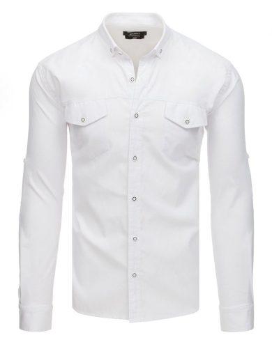 Pánská košile s dlouhým rukávem bílá