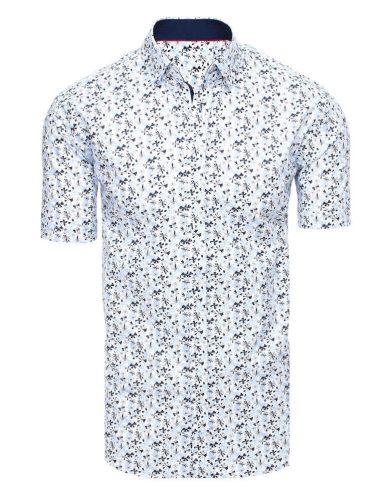 Neformální pánská košile s krátkým rukávem a potiskem květů