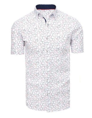 Ležérní pánská košile s potiskem geometrických vzorů