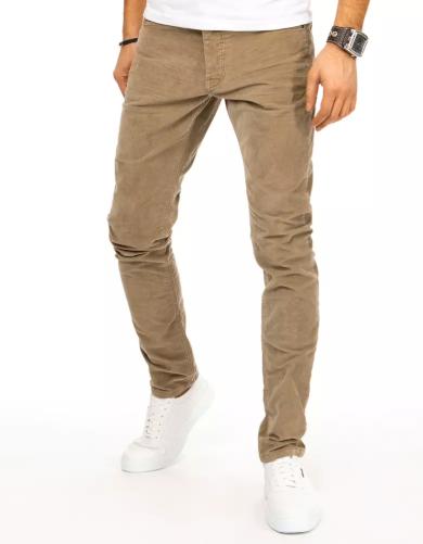 Klasické rifle hnědé pánské džínové kalhoty úzké