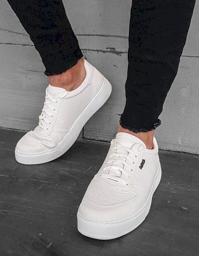Pánské bílé tenisky šněrovací boty ZX0176