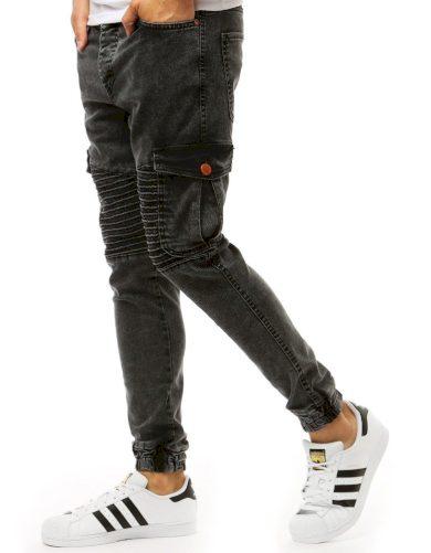 Černé pánské džínové jogger kalhoty