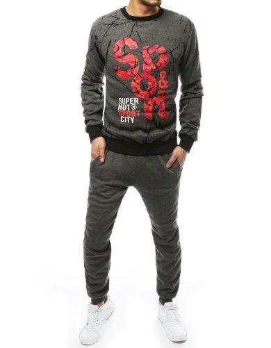 Souprava pro pány bavlněný set svetr s nápisy a potiskem + jogger
