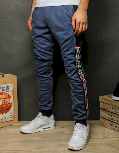 Pánské teplákové kalhoty tmavě šedé Dstreet