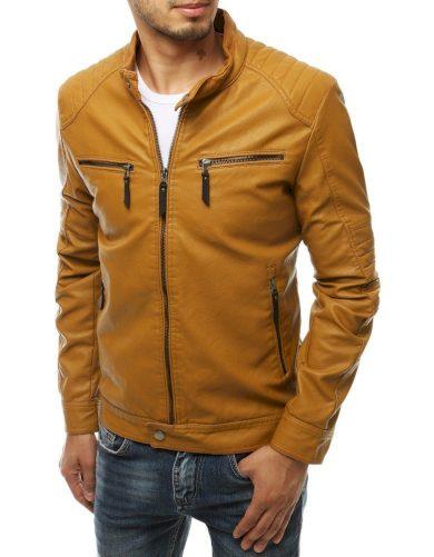 Pánská bunda z ekologické kůže elegantní bunda s podšívkou