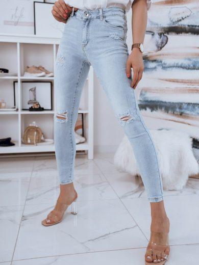 Děravé Skinny Fit džíny s vysokým pasem