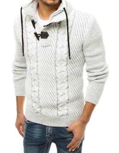 Teplý vlněný svetr pro muže pulovr na zip a kolíky