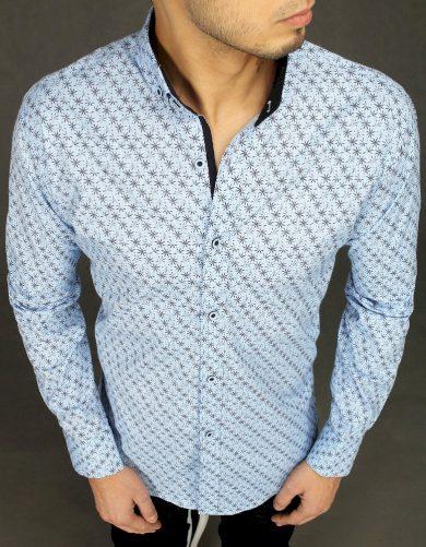 Pánská vzorovaná košile s potiskem sněhových vloček