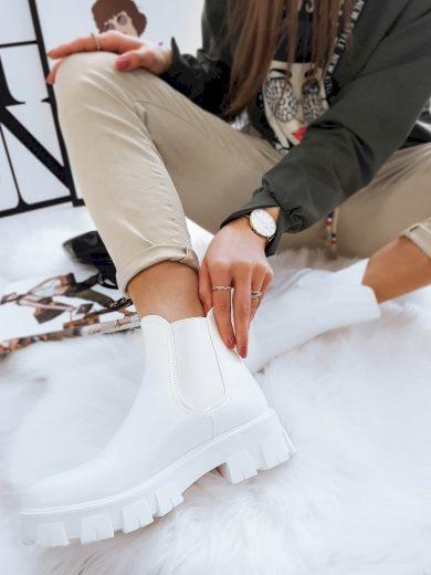 Dámské chelsea boty NATHALIE WHITE bílé ZY0015
