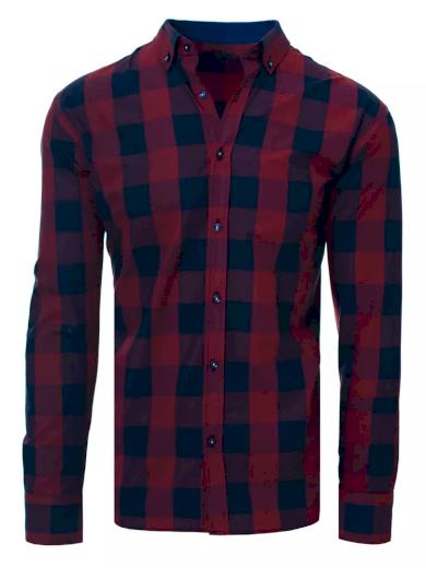 Pánská barevná kostkovaná košile slim fit střih