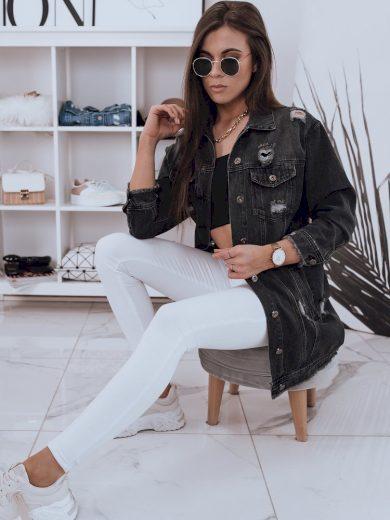 Dámská bunda džínový model KLARISSA v černé barvě Dstreet
