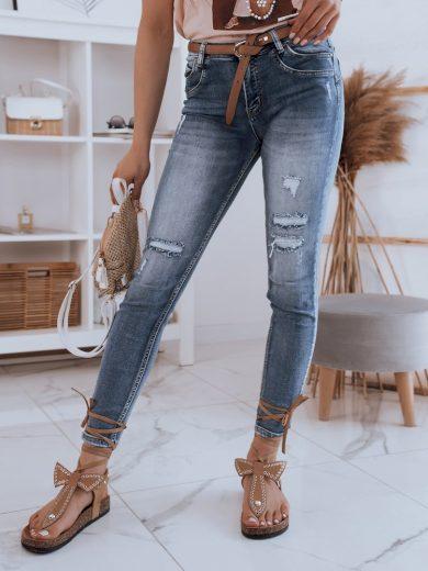 Dámské riflové kalhoty džíny DEVA modré Dstreet