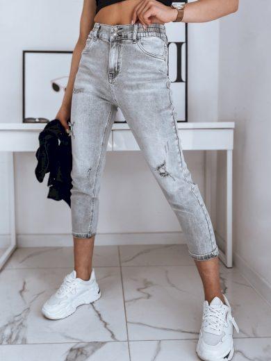 Dámské riflové kalhoty džíny WIRA šedé Dstreet