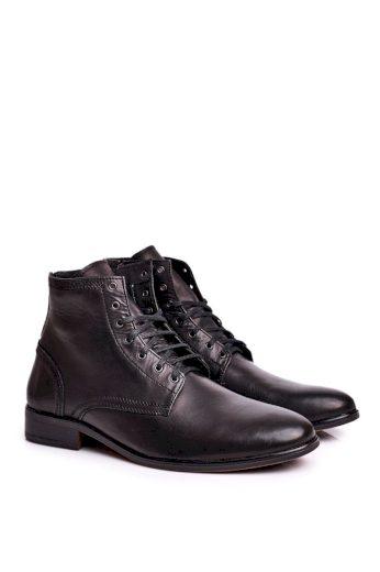 Pánské boty kožené černé Bruno
