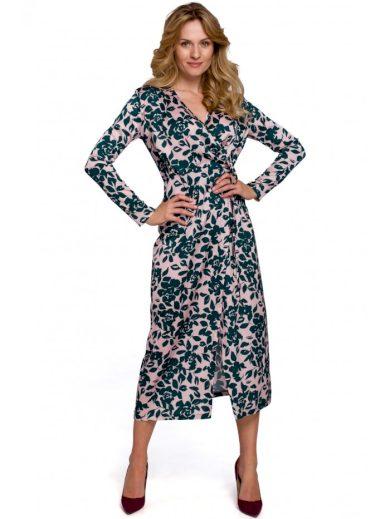 Zavinovací šaty s květinovým potiskem MAKEOVER K083