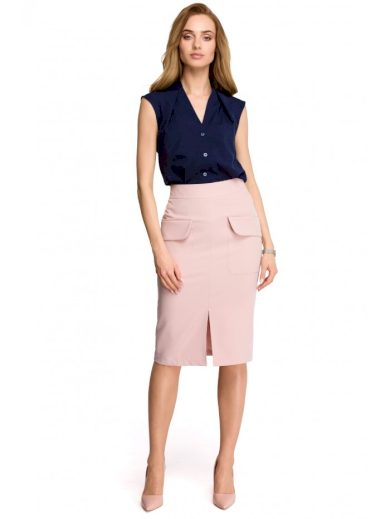 Tužková sukně s předním rozparkem STYLE S103