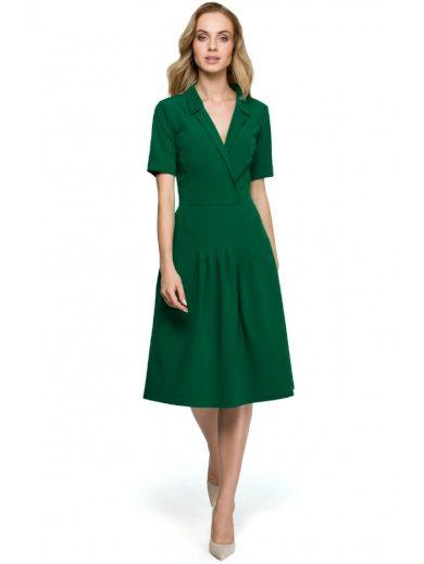 Zavinovací midi šaty s límečkem STYLE S122
