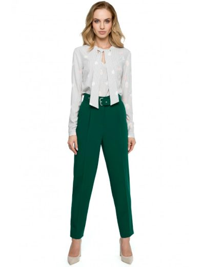 Vysoký pas kalhoty s opaskem STYLE S124