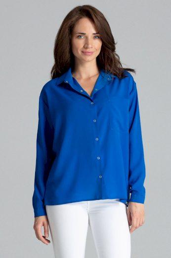 Dámská klasická košile se vzory a jednobarevná L059 LENITIF