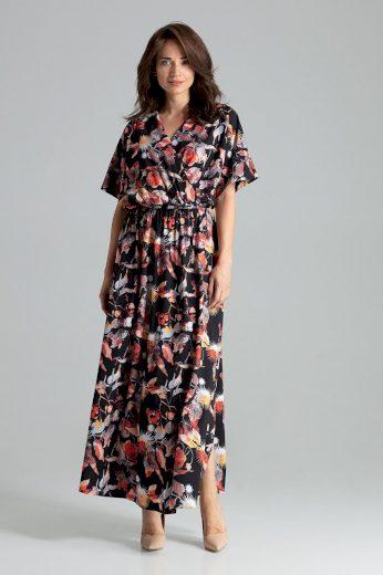 Zavinovací maxi šaty L055 LENITIF