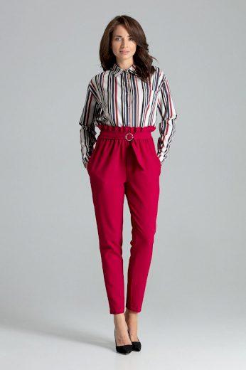 Klasické kalhoty s volánky v pase L056 LENITIF