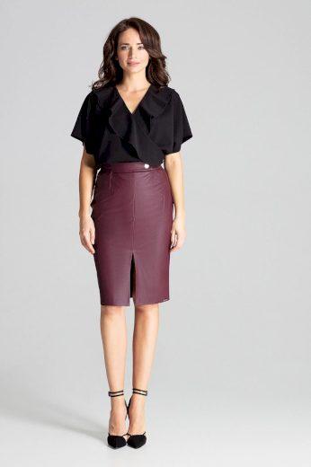 Midi sukně s rozparkem vpředu L071 LENITIF