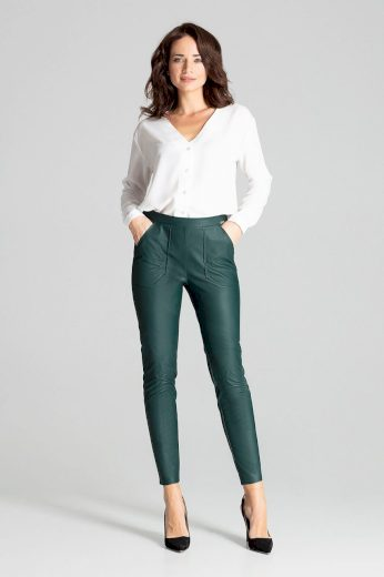 Přiléhavé koženkové kalhoty L072 LENITIF