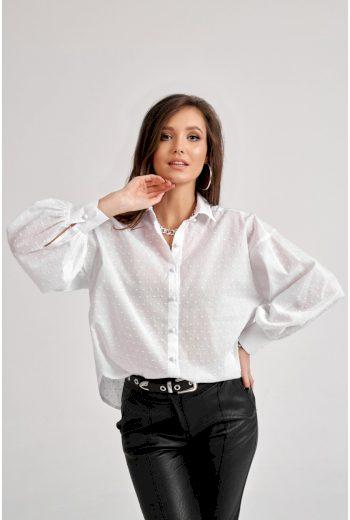 Košile s dlouhým rukávem volného střihu
