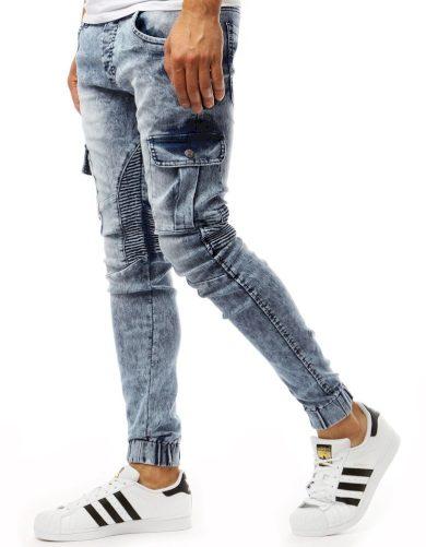Modré pánské džíny běžec