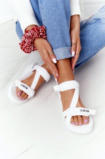 Pěnové Sandály Na Klínu Big Star FF274A351 Bíle