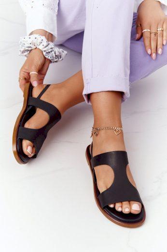Kožené Sandály Big Star HH274715 Černé
